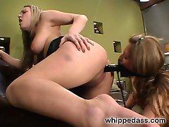 Horny lesbian slut, Mia Austin, devotes her self to the sadistic pleasure of her mistress,...