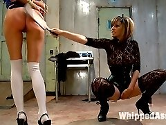 Gia Dimarco gets dominated, punished and ass fucked by Maitresse Madeline LIVE for Whipped Ass...