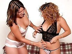 Beautiful girls in lingerie getting their asses slapped