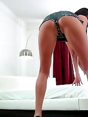 Today we have Anastasia - hot smoking dark-haired courtesan with unbelievably delicious butt and...