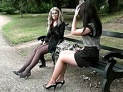 Ladies with nice legs who wear high heels are stimulating. Here the girls shoes will harden your...