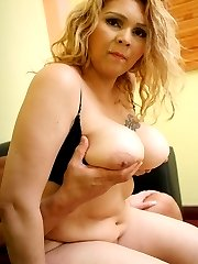 Busty bbw Luana has her huge tits fondled while she rides a huge dick hard