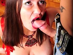Awesome mature gal with fuck-me eyes getting spread for ass-screwing action