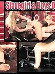 After shes finished using him, she makes him wank his cock, as she stands over and soaks him...