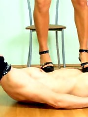 Beautiful mistress humbling her masked slave. The hottest femdom vid ever seen