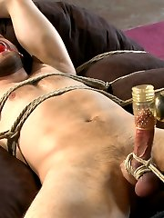 Abel Archer is a hot bisexual stud coming to us completely fresh to bondage and edging. We start...