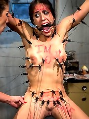 Skimpily dressed Halloween party goer Lyla Storm is the perfect bait for predator Felony!...