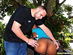 Super hot big round booty babe lauren gets her hot fucking ass pussy rammed poolside after...