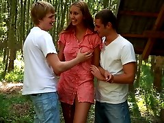 In the middle of the woods, this cute teen turns into a dirty nymph. She practically orders...