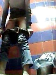 Hot girls peeing in front of voyeur cam