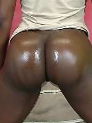Minas plump rump rides a big black dick