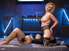 Insatiable electroslut Rose Rhapsody returns for more electric orgasms and torment! Bound to a...