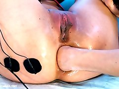 We all know Jayden Lee is no rookie to my electro power. She's been under the spell of my shock many times. However this time is different. This time I have special plans for my little Asian budding Electroslut. This time I will use her as a tool. My little porn star who wants so badly to be one of my Electrosluts is willing to do anything to prove herself. But is she willing to show this fresh young newcomer, Kira Sinn, what it takes to not only be called a Porn Star but to also be in the ranks for an Electroslut? I have Mistress Lorelei Lee with me to wrangle these two Asian sluts and whip them into shape. I devised a master plan and Lorelei executed it. By the end, one girl finds a new found love for new electro toys and the other is FISTED in her ASS! Don't blink during this update, you may miss some of the steamy electro action!