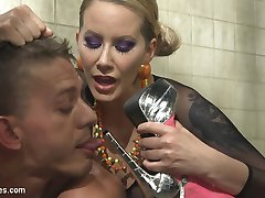 It's been 3 years since Maitresse Madeline Marlowe and Lorelei Lee had a slave under their stilettos at the same time! Now the wait is over! Buff stud, Alexander Gustavo, is putty in their hands. They tease and torment him with their beautiful wet pussies but instead he gets a trillion clothes pins. They fill his mouth with their delicious saliva but don't allow him to drink the nectar. They fuck him deep in his ass and steal the sperm from his balls then sit on his face making him lick the sweat from their delicious assholes. What a lucky slave!