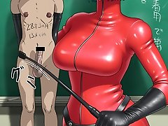 hentai femdom and rod and ball castigation