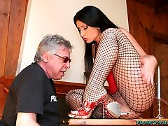 Deviant David - Deviant Mistresses Dominate Their Poor Old Slaves!