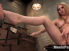 The mail is late for the last time.  Beautiful Aiden starr brings her vicous personality and magnificent melons to the mail room to get to the bottom of things.