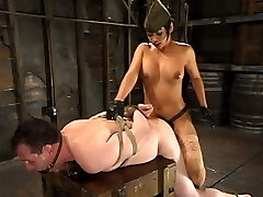 When Sgt Major can? t get his recruit to perform, he takes him to the top Dom who always get results. General Mika Suntan whips Her little intimate into form with Her own brand of discipline training, that includes push-ups with a dick in his ass and sit-ups until accomplish failure. This exercise torture is mingled with caning, agonizing cbt and fuckbox servicing for the rigid working General!