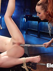 Latex dominatrix Bella Rossi uses tough slut Ella Nova for her sadistic pleasure! Ella enjoys...