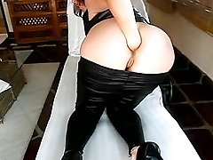Sexy amateur slut fist fucking her gaping asshole till she orgasms