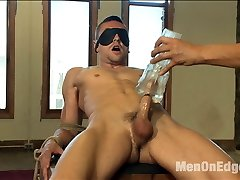 Sexy straight stud Johnny Torque is brand new to Men on Edge and hes very excited about his...