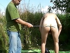 Nasty gay spanks neat twink in heat