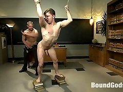 Mr. Herst is a tough hot teacher, who doesn't take any bull from his students.  As Mr. Herst is explaining the course outline, the class jock, Doug Acre is daydreaming about his new sexy and strict professor.  Doug is tied to a chair as his muscled professor takes out his big throbbing cock and shoves it down Doug's throat.  Mr. Herst bends the boy over his knee, playing with his hole and giving him the paddling he deserves.  Once more Doug is bent over the teachers desk as Mr. Herst slams his hard cock deep in Doug's tight hole.  Doug is flipped over on his back and gets fucked so hard he cums all over himself.  Seeing Doug's hot load pushes Mr. Herst to the edge and he finishes the jock off with a load dripping on his face.