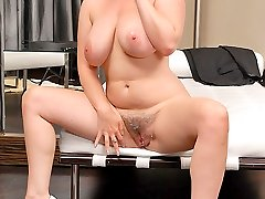 Check out this hot fucking babe violet get her big phat bush pussy rammed in these hot red head...