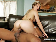 Bored Wife Tries Out A Huge Ebony Prick