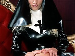 latex nun spanks and licks catholic college girl