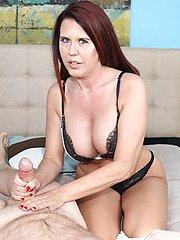 Grace Evangeline Post Shower Milking at Over40handjobs