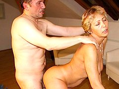 This housewife gets fucked all through her house