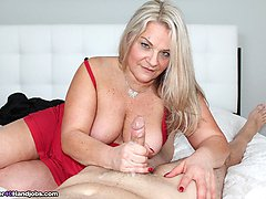 Spurting with Step Mom - MILF and Mature Handjob Videos Over 40 Handjobs