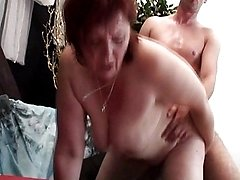 Shy Ginger-haired MILF Gags On A Humungous Cock
