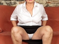 This huge mature lady loves to get dirty when shes alone