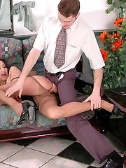 Crazy mature dame in manage top pantyhose getting her pussy crammed hard