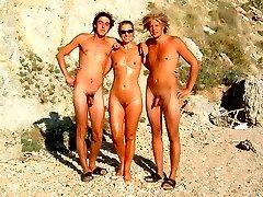 Shy nudist families