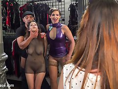Part 1 - Zenda Sexy: Walk of ShameThe beautiful, busty Zenda Sexy is back for more disgrace. How much further down this humiliating path of disgrace can she go.Part 2 - Huge Cocks Bring Tears of PleasureFinally Mistress gets her play toy in the right outfit, just in time for a huge crowd to laugh and humiliate this pathetic slut. Huge cocks stuffed in her mouth bring beautiful tears of pleasure. Hard deep fucking gets the crowd wild! Zenda screams throughout as she is brought to her knees over and over again to serve the public.