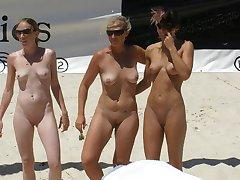 Nude women caught on nude beach