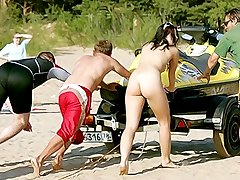 Naked teen nudist turns all the men on here
