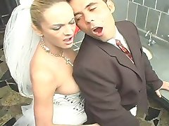 Outrageously hot shemale bride getting fucking kicks after wedding ceremony