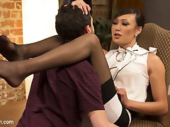 Jay Wimp wants to quit smoking yet he just can't seem to make it happen. His oral fixation is just so strong! Thankfully, Venus Lux has an unconventional method for getting her clients to quit smoking! She fills the oral fixation with another that is much more healthy, her fat hard cock! Jay has never been with a TS woman before but after this experience I think it's safe to say that he will be back for more! Watch as Venus breaks his cherry and covers his face in a healthy dose of her cum!
