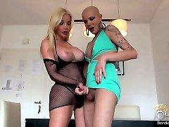 TS Ana Mancini SUCKING the COCK of TS Blondie Johnson