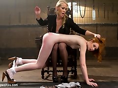 Welcome innocent, all natural, true redhead, Nathalie Lawson to Whipped Ass! In this kinky...