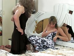 Clad in a dress sissy aches for a hot after-party mounting a babes strapon