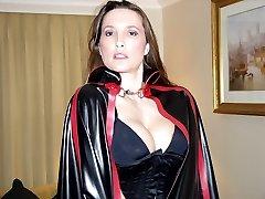 Vamp Jane spanks and fucks T-Girl Sissy
