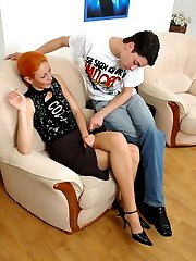 Redhead chick is on prowl for guys fresh ass to try out her huge strap-on