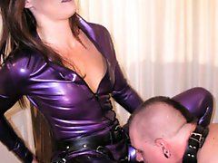Two strapon Mistresses on a slave