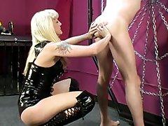 Strapon slave humiliated