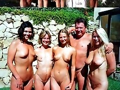 A hot brunette has been invited to the biggest swingers party. Her silky skin and tender pussy...